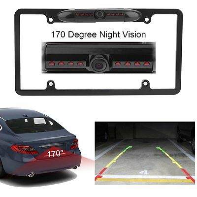 WATERPROOF NIGHT VISION License Plate Frame Car Rear View Backup ...