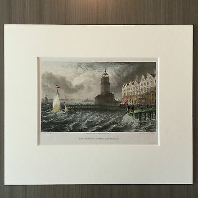 The Herrings tower - Amsterdam - Staalgravure - 1825 - (A1.21)
