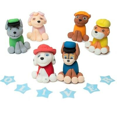 paw patrol cake topper edible figures personalised birthday decoration