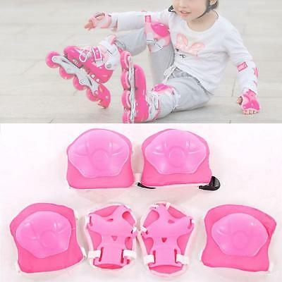 New Kid 6pcs skating protective gear Safety Children Knee Elbow Pads Set Pink BJ