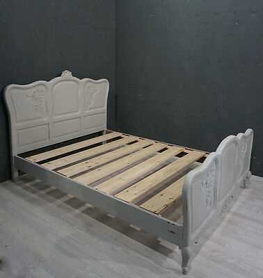 Shabby Chic Double French Bed (BR86)