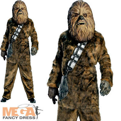 Deluxe Chewbacca Star Wars Mens Fancy Dress Scifi Movie Adults Costume Outfit