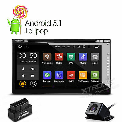"""10.1"""" Touch Screen 1024*600 Android 5.1 Double 2Din DAB+ Stereo GPS Navi WiFi&3G"""