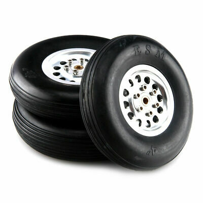 1 Pair 100% Solid Rubber Wheels Aluminum Hub 3.5inch 88.9mm For RC plane/Model