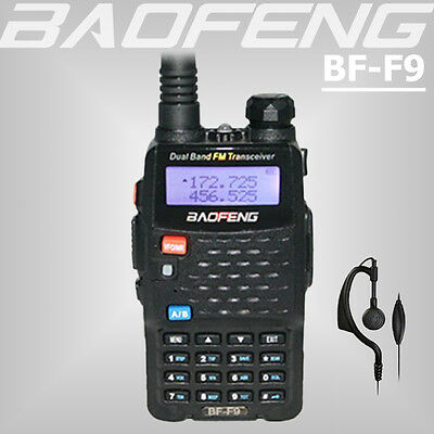 BAOFENG BF-F9 Dual Band 136-174/400-520Mhz Ham Walkie Talkie Radio Transceiver