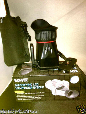 "Bower Pro Series 3.5X 3"" Magnifying LCD Viewfinder Eyecup w/case  f/DSLR"
