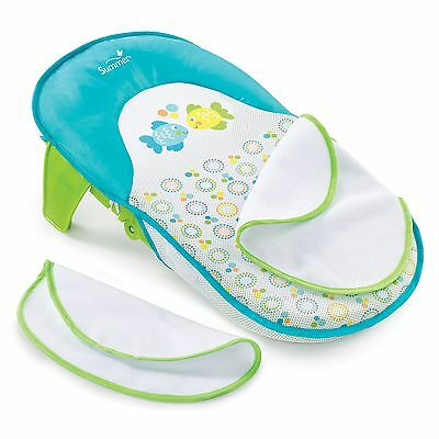 Infant Bath Sling Baby Bath Tub Home Bathroom Bathing Seat Blue Green Boys New