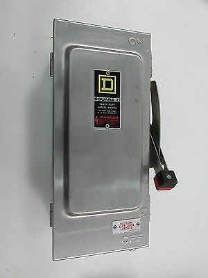 Square D Safety Switch HU361DS 30A 600V Stainless Steel Nonfusable