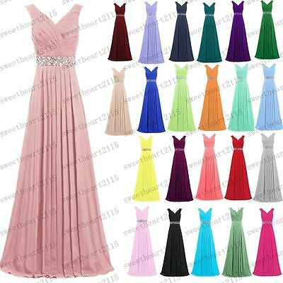 New Formal Long Evening Ball Gown Party Prom Bridesmaid Dress Custom Size 6~26