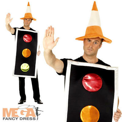 traffic light and cone hat fancy dress mens ladies fun novelty adults costume