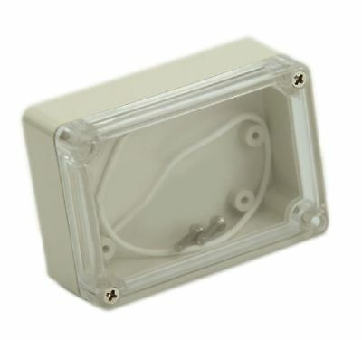 Clear Translucent Project Box Waterproof Splashproof Enclosure With Gasket Seal