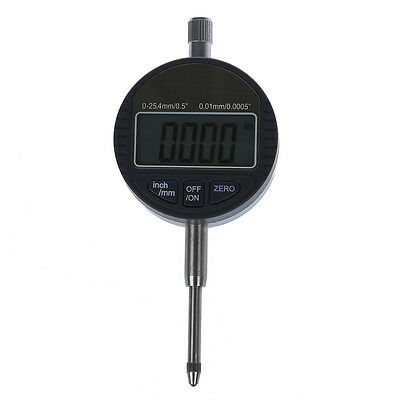 "Digital Dial indicator DTI 0.01mm/.0005"" Range 0-25.4mm/1"" Clock Gauge I1U2"