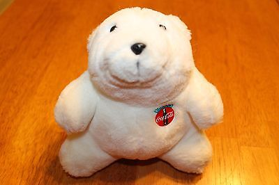 "Coca Cola Plush Stuffed Animal Toy Collectible Polar Bear 7"" ***FREE SHIPPING***"