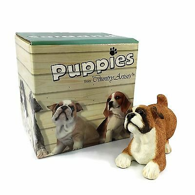 Puppies by COUNTRY ARTISTS 2002 Bulldog Puppy HAND PAINTED  #02784 New in Box