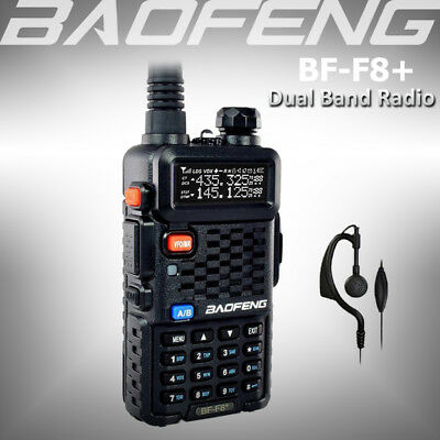 BAOFENG BF-F8+ Dual Band 136-174/400-520Mhz Two Way Radio Transceiver + Earpiece