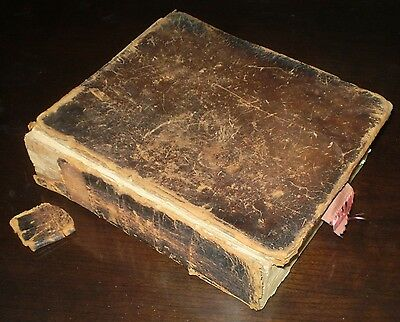 1825, Brattleborough Vermont, Holy Bible, Holbrook & Fessenden, Early American