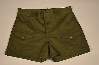 Vintage Boy Scouts of America green cargo uniform troop shorts CAMP SHORTS SZ 30
