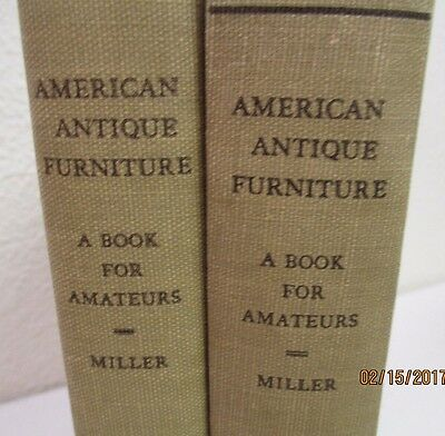 American Antique Furniture Volumes 1 & 2 by Miller - 1937