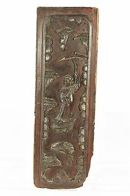 Antique Chinese Wooden Carving / Carved Panel, Qing Dynasty, 19th c