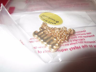AMERICAN GIRL Julie's MEET ACCESSORIES- GOLD NECKLACE- ONLY   REPLACEMENT PIECE