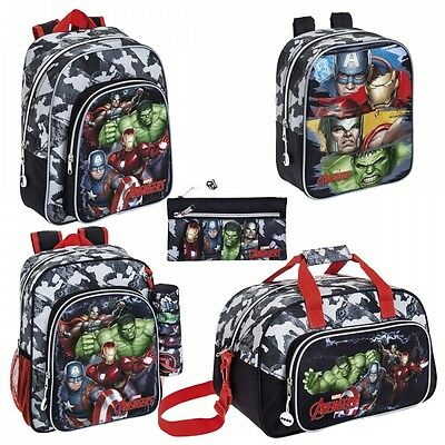 Marvel Avengers Backpack Rucksack Travel School Gym Sports Bag Pencil Case Boys