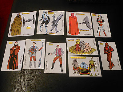 10 Stickers Vintage 1983 Star Wars Return Of The Jedi Promo Viplfl Spain Spanish