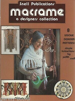 Macrame A Designer Collection Judy Snell Vintage Pattern Book NEW 1976