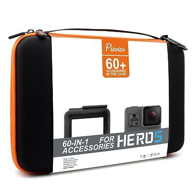 Pieviev Accessories Case Kit for GoPro HERO5 Frame Black 50+ Items Included NEW