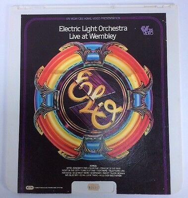 Electric Light Orchestra ELO Live At Wembley CED 1981 MGM/CBS Home Video Color