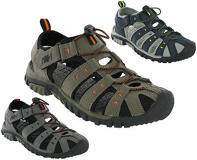 PDQ Sandals Closed Toe Toggle Strap Fastening Lightweight Mens Beach Cushioned