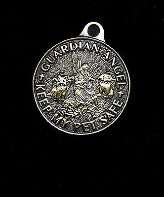 Guardian Angel Keep My Pet Safe Medal Tag Collar Charm - SALE BENEFITS RESCUE