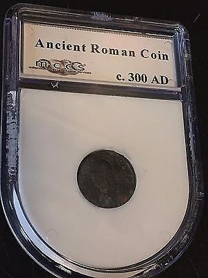 ANCIENT ROMAN COIN Sealed ENCASED Circa 300 AD Great Artifact SLABBED L8