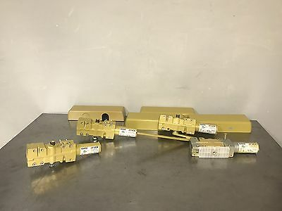 Lot Of 4 Lcn 4040se Closer Door Assemblies With Covers