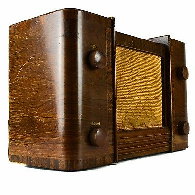 Westinghouse H-130 AM Tube Radio Model Wood Cabinet Art Deco (AS IS)