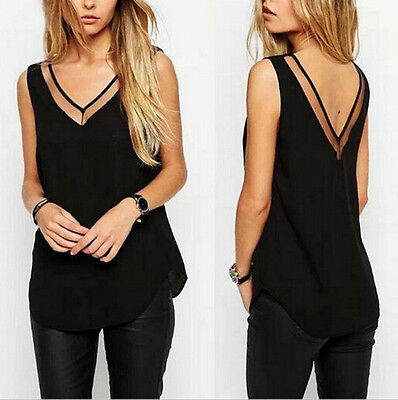 Sleeveless Tops Women Fashion Summer Blouse T-Shirt Blouse Vest Casual Tank Tops
