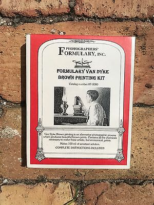 Photographers' Formulary Van Dyke Printing Kit, Brown #07-0080 - New
