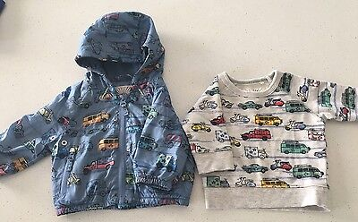 Baby Boys Jumper And Jacket Size 00 3-6 Mths NEW