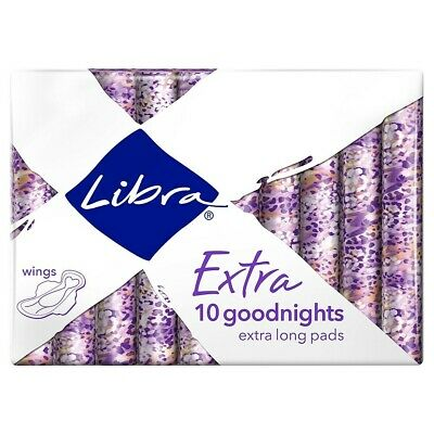 Libra Extra 10 Extra Long Pads Sanitary Napkins With Wings - VARIOUS QUANTITIES