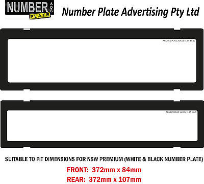 Number Plate Cover NSW / SA Premium - Clip On - No Lines