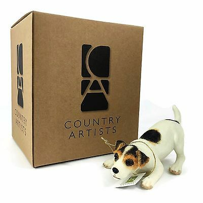 COUNTRY ARTISTS 2007 Jack Russell Crouching HAND PAINTED CA05204 New in Box