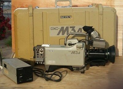 Vintage Sony DXC-M3a Professional Broadcast Color Camera -Canon Lns, Case, Power