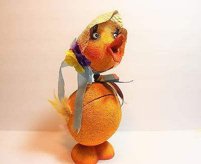 "Large Dept 56 Vintage Style Easter ""Chick"" Bobble Head Candy Container"