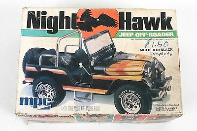 Vintage MPC Night Hawk Jeep Off-Roader 1/25 Model Kit 1-0709 Open Box - COMPLETE