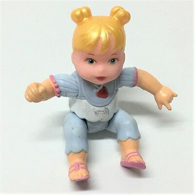 FISHER PRICE Loving Family Dollhouse BABY BLONDE PIGTAIL GIRL Xmas Gift Toy