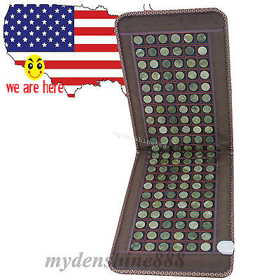far infrared Heating Mat Mattress relax Natural Jade Tourmaline Massage Stone