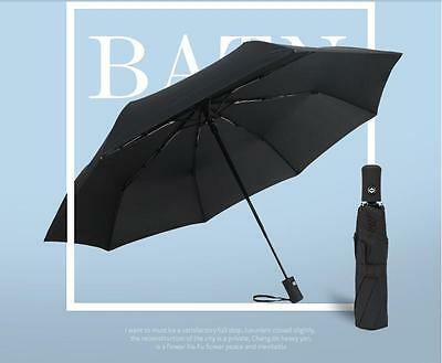 Fulton Open & Close Slim Auto Compact/Folding Umbrella Black