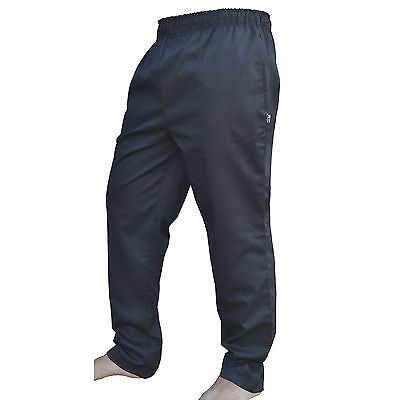 Cotton Chef Trousers Catering Work wear Kitchen Black 100% Cotton Chef Trousers