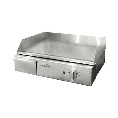 Griddle Smooth 520x330mm Cooking Surface Grill Plate Woodson W.GDA50 Hotplate