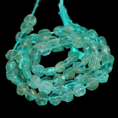 """57 Ct.aaa Superior Natural Apatite Coin 3 Mm Cab Loose Gemstone Beads 13"""" B 4560"""