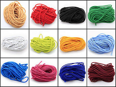 Elastic Cord Round Black 55 ydx 3mm great for sewing, crafts & buttonhole loops